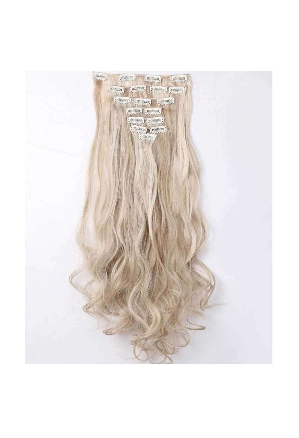 Ash Blonde Hair With Platinum Blonde Highlights Hair Extensions