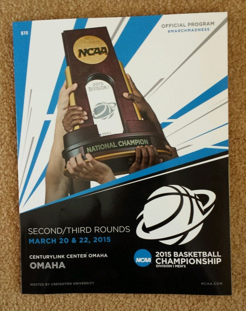 2015 NCAA Basketball Tournament Program Omaha Kansas