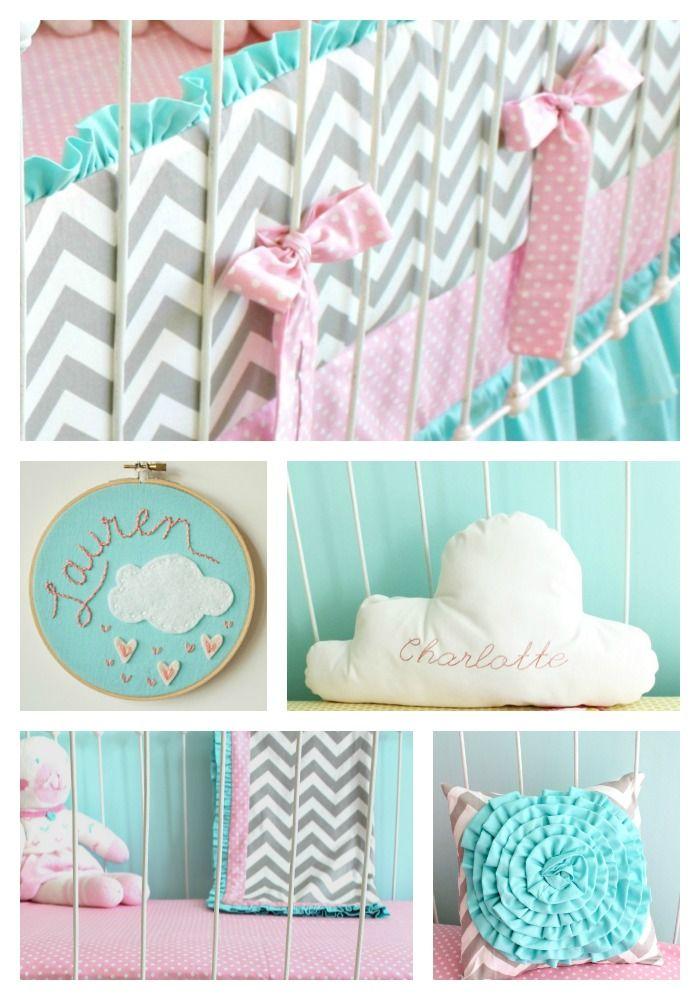 Candy Chevron Baby Bedding