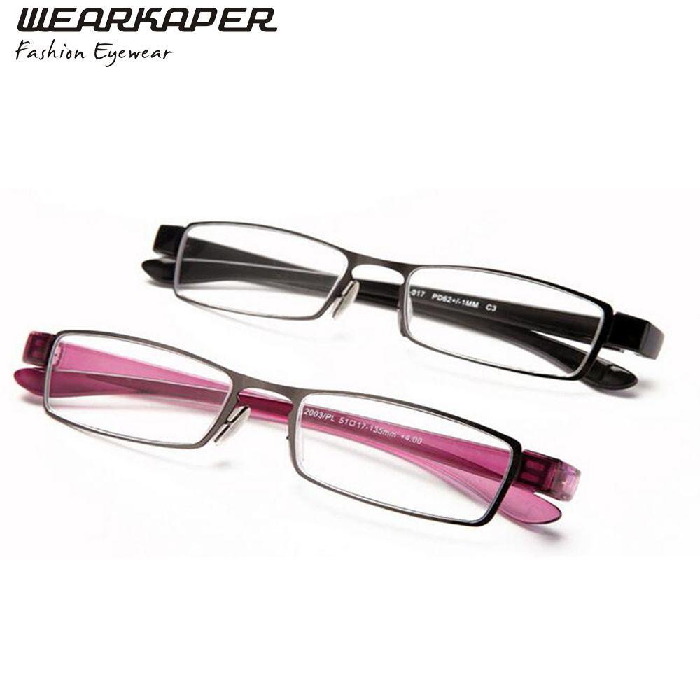 WEARKAPER Metal Frame Reading Glasses Fashion Older Glasses gafas de ...