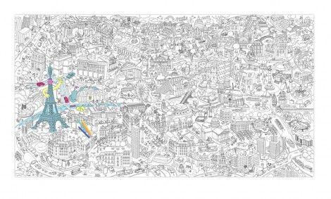 Grote Kleurplaten Prinsessen.Super Grote Kleurplaat Omy Tekenrol Paris Creatief