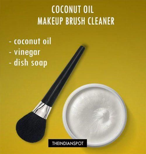 Photo of Coconut Oil Makeup Brush Cleaner #Coconutoilforagin … – Coconut Oil Makeup Bru…