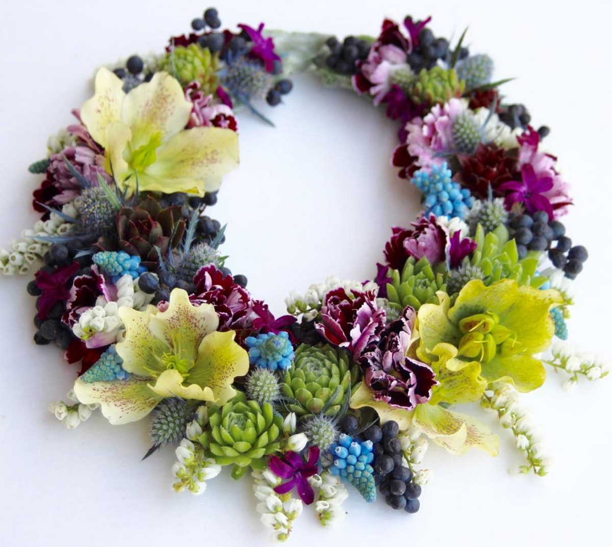 Flower Necklace Floral Necklace By Sophisticated Floral Blog Of