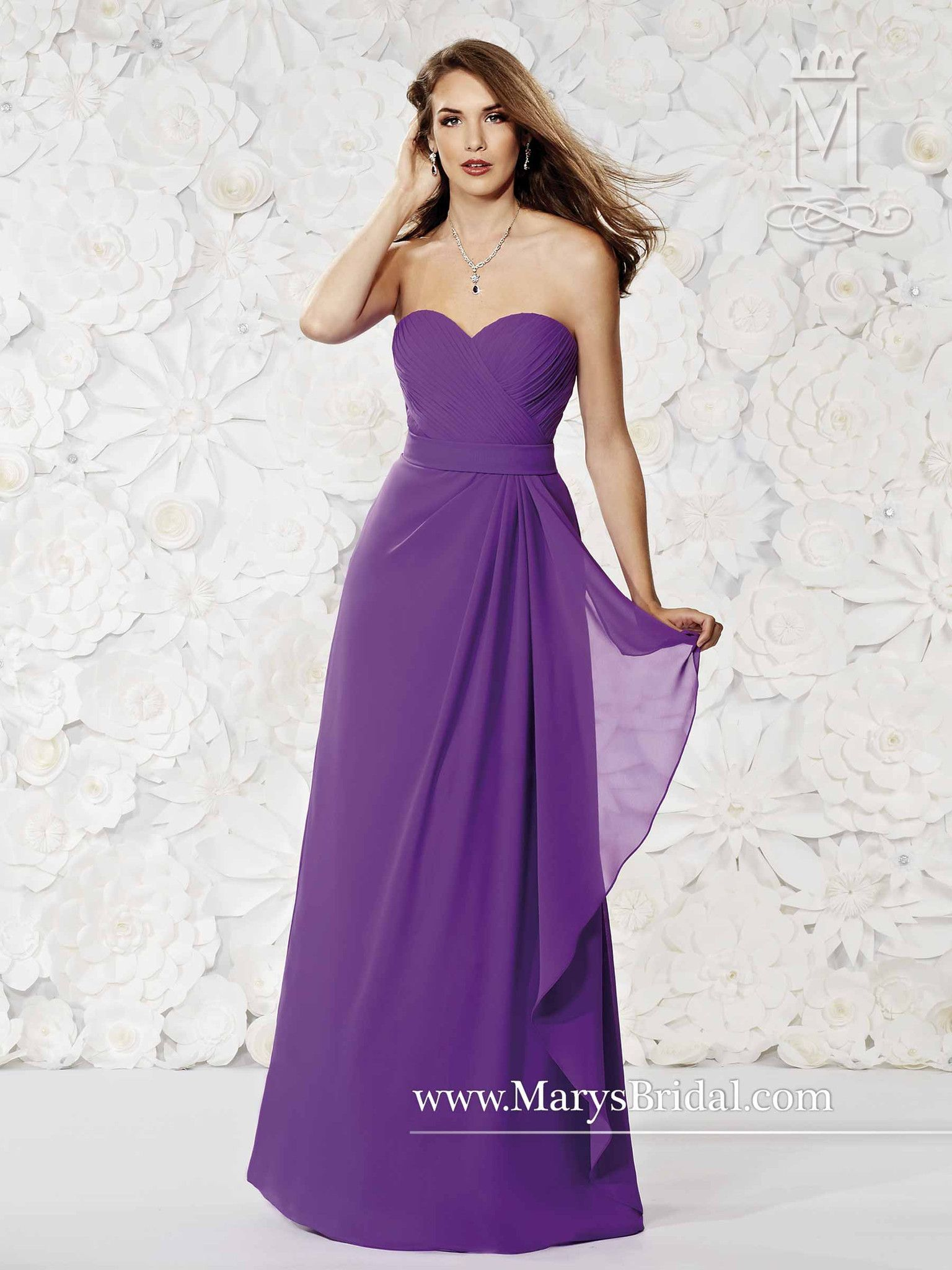 Chiffon A-Line Sweetheart Gown   Products   Pinterest