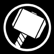 Thor Logo Avengers Logo Logos Superheroes Y Martillo De Thor
