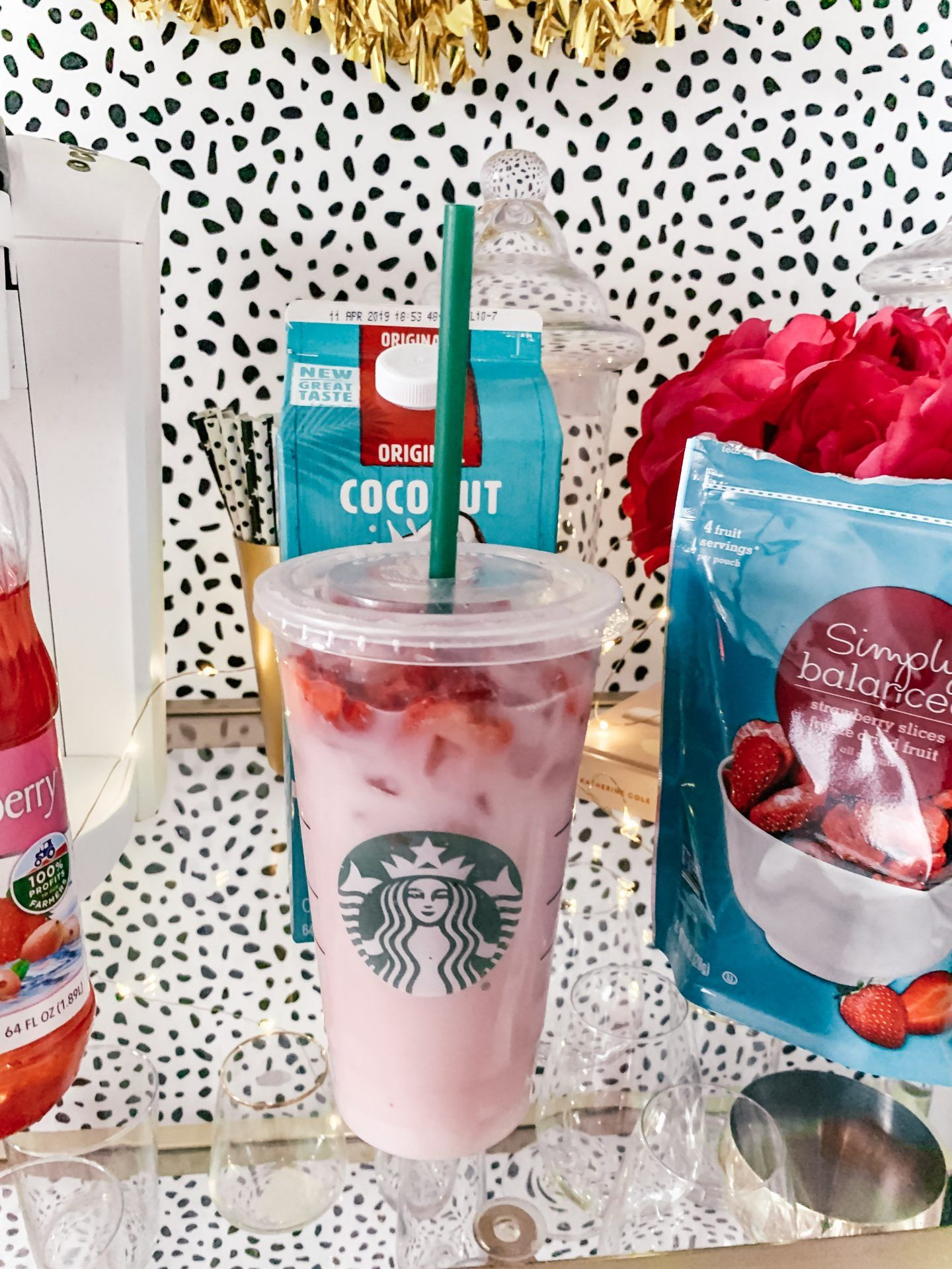 Diy Pink Drink Recipe Starbucks Pink Drinks Pink Drink