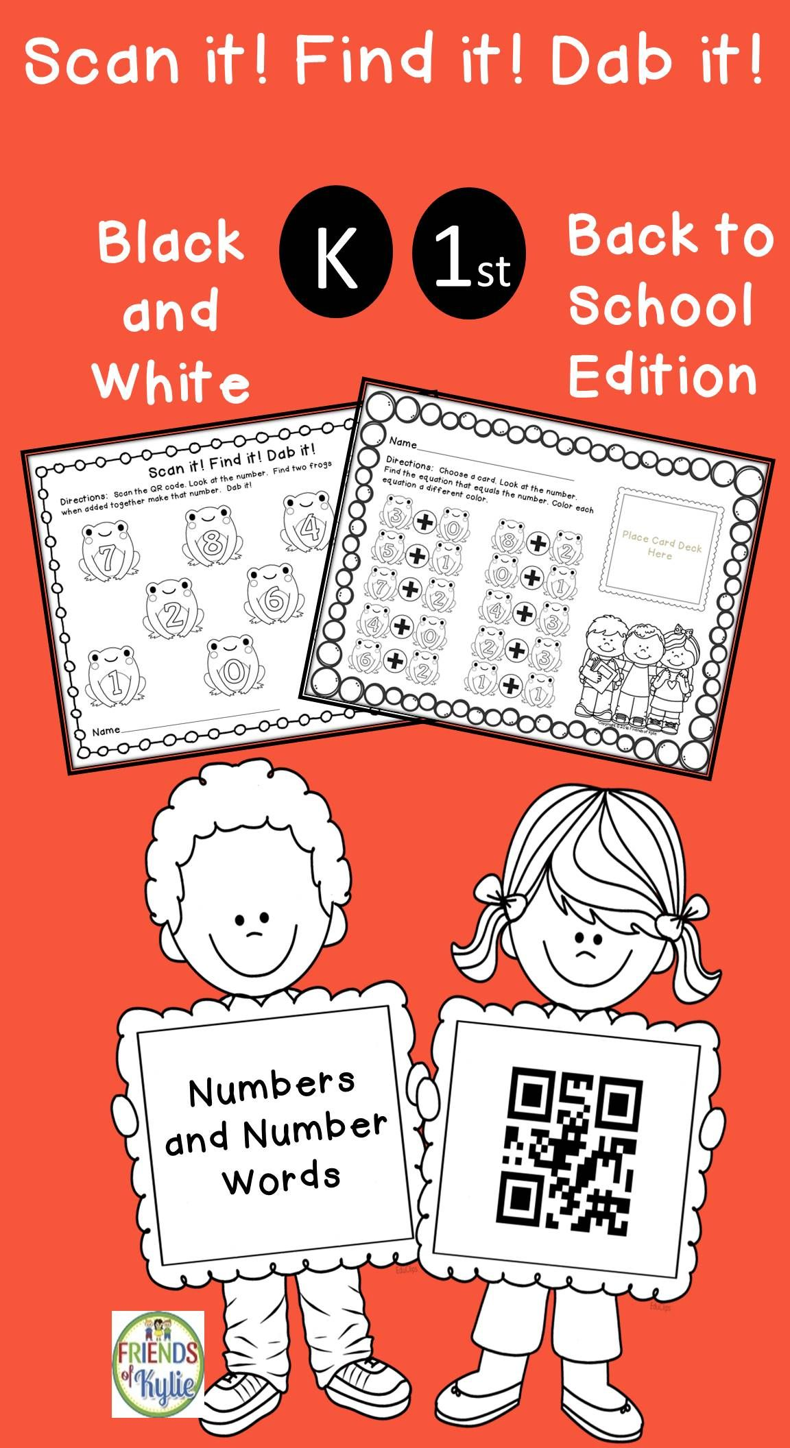 Numbers And Number Words With Qr Codes And More Black And