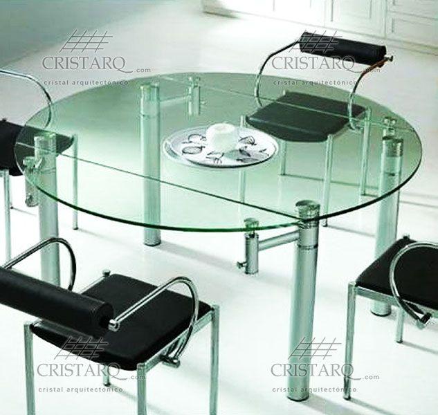 Cubierta redonda de crital templado para mesa cocina - Cristales para mesas redondas ...