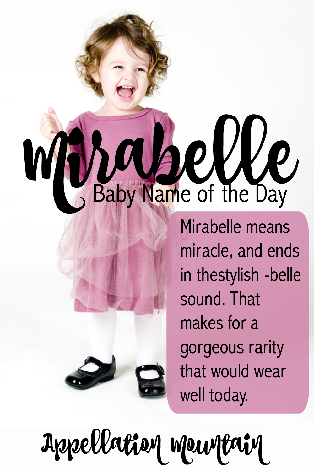 Rarer than popular girl names like Isabella and Annabelle, Mirabelle is a girl's name with a great meaning. If you're after unexpected baby names that are exactly on trend, Mirabelle is one to add to your list!