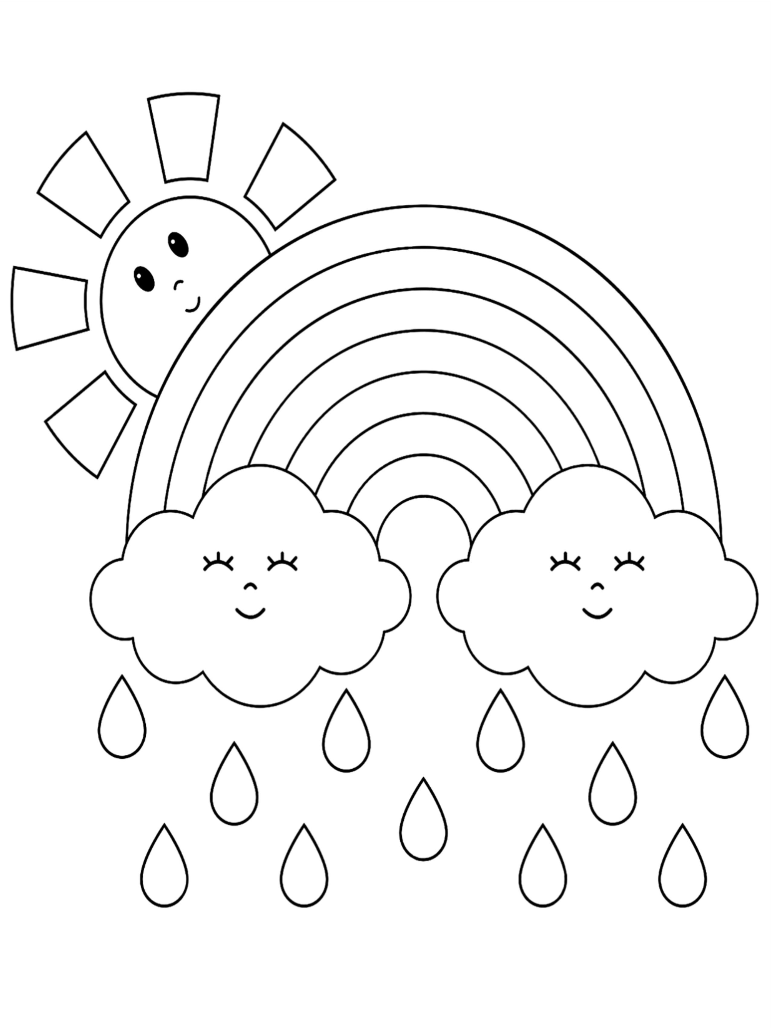 50 Weather Coloring Pages For Kids Unicorn Coloring Pages Coloring Pages Preschool Coloring Pages