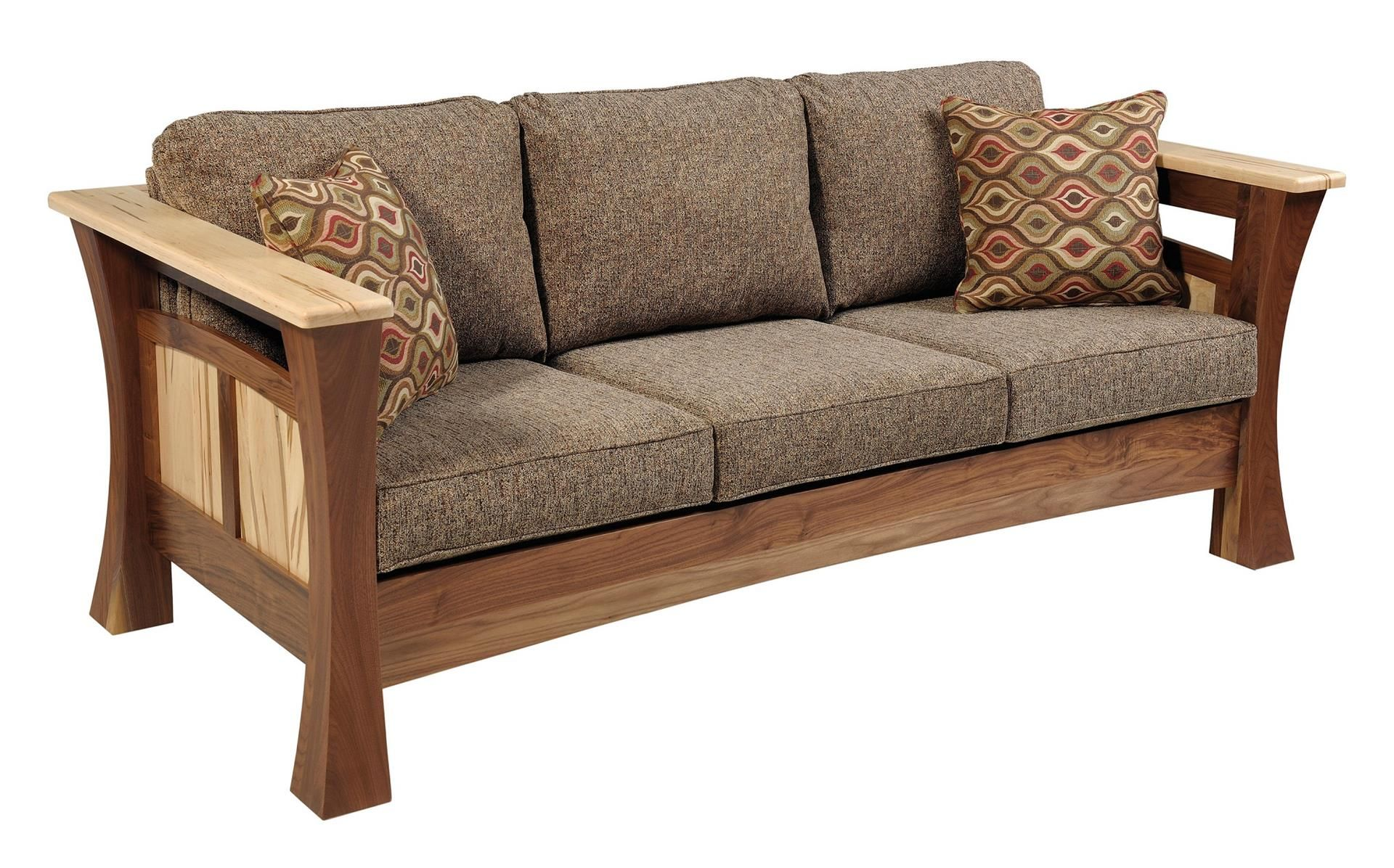 Amish Shaker Gateway Sofa Wooden Sofa Designs Furniture Wooden Sofa