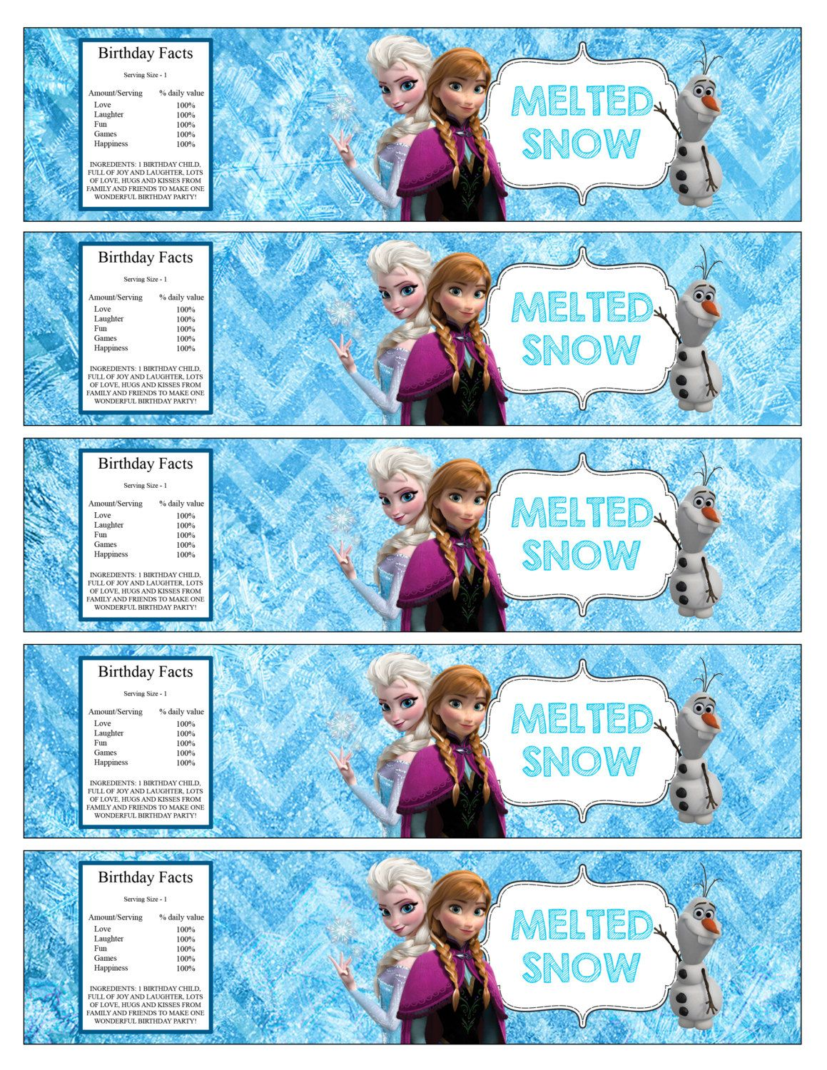 It is a picture of Nifty Frozen Printable Labels