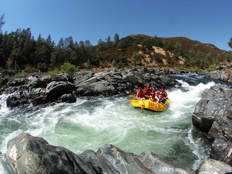 South Fork American River rafting near Sacramento,CA