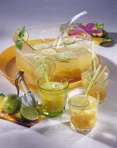 Pfirsich-Caipirinha-Bowle #alcoholicpartydrinks