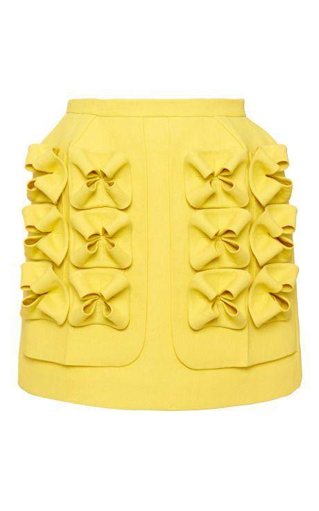canary bow skirt Delpozo SS 2015 NYFW