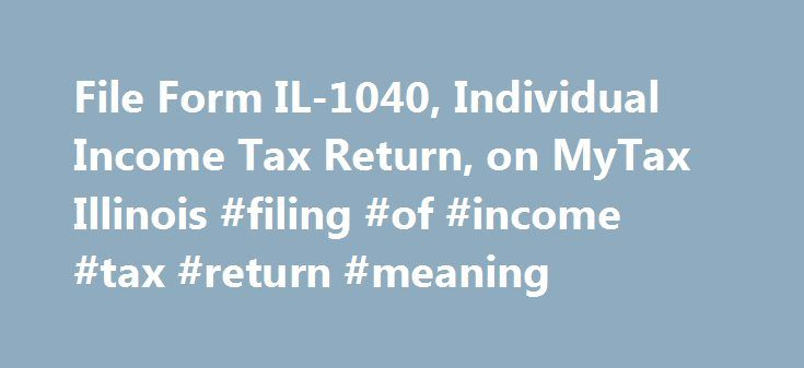 Printable Michigan Form MI-1040 – Individual Income Tax Return ...