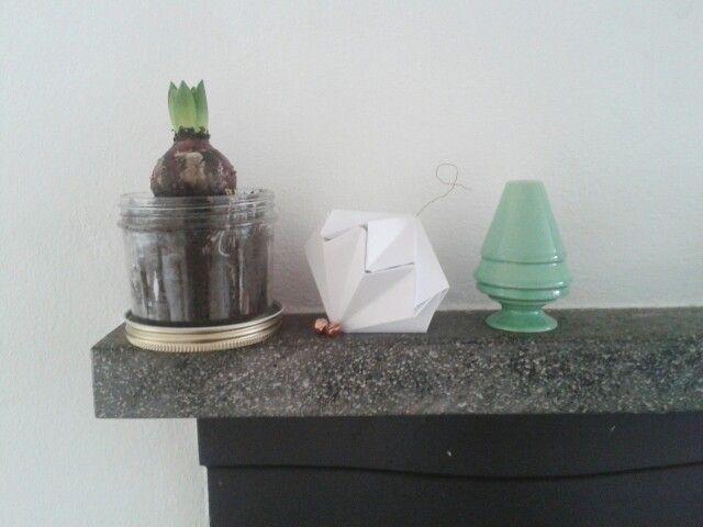 Origami Christmas ornament kahler candle holder