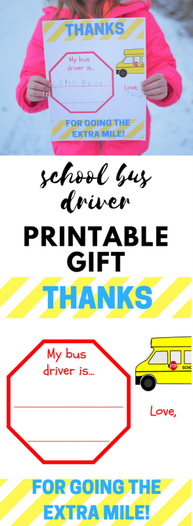 photograph regarding Bus Driver Thank You Card Printable called Bus Driver Appreciation Printable - Because of for Moving the