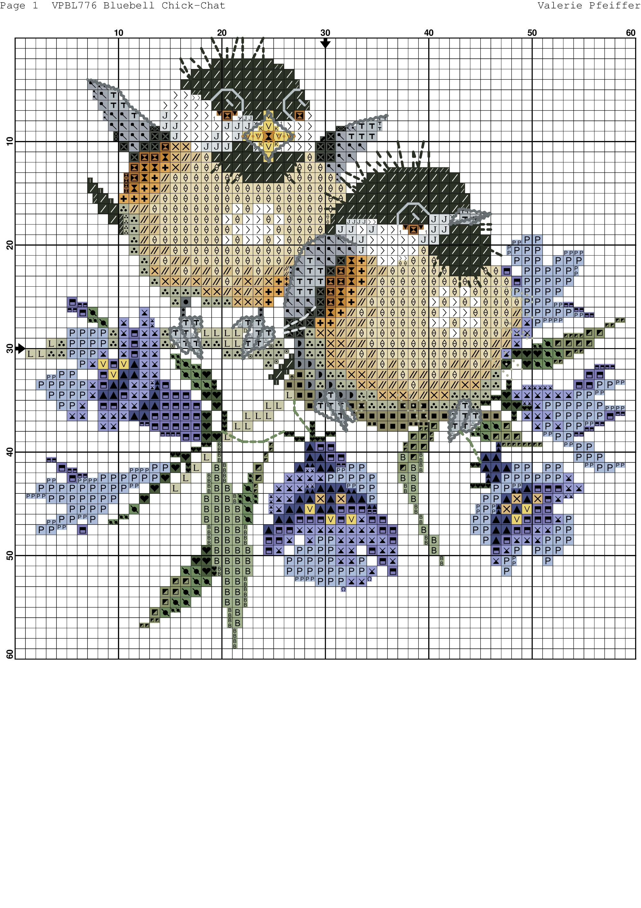 bluebell-4 | Kreuzstich - Tiere | Pinterest | Handarbeiten ...