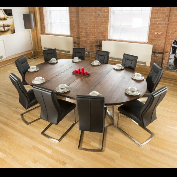 Jupiter Solid Oak Extending Round Dining Table 6 Colours 1800x1800mm In 2020 Oak Dining Table Solid Oak Dining Table Dining Table