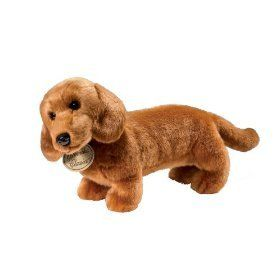 Amazon Com Yomiko Dachshund Realistic Stuffed Animal Plush Dog By