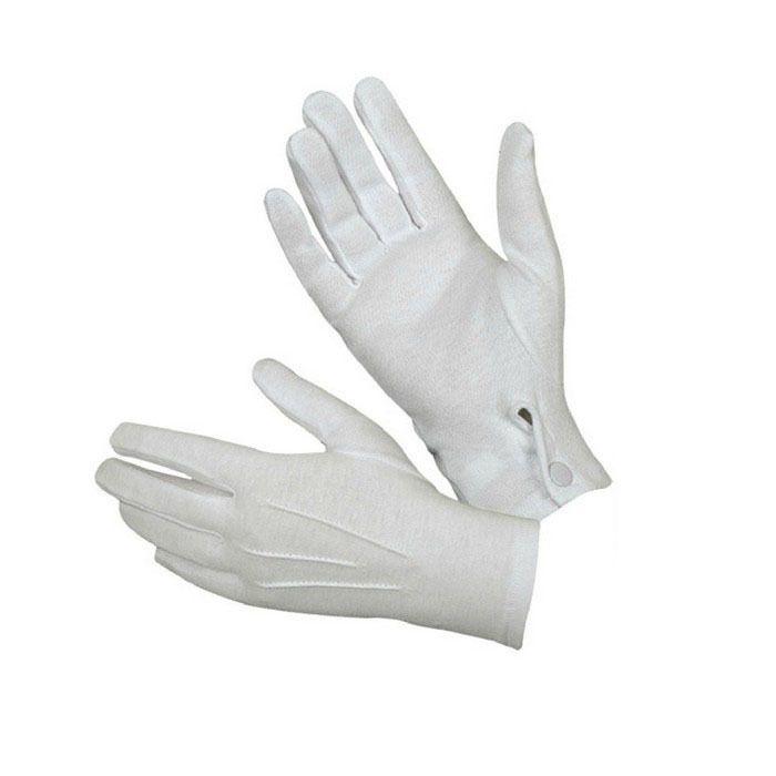 1pair Short White Adult Men Gloves Tuxedo Honor Guard Parade Santa Inspection Formal Gloves Cotton Gloves Mens Gloves