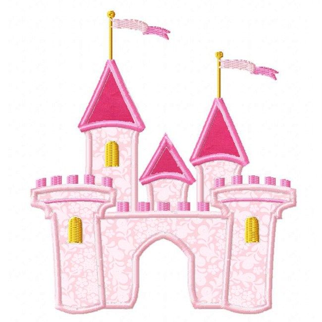 Princess Castle Applique | Kids Applique | Pinterest | Nähanleitung ...