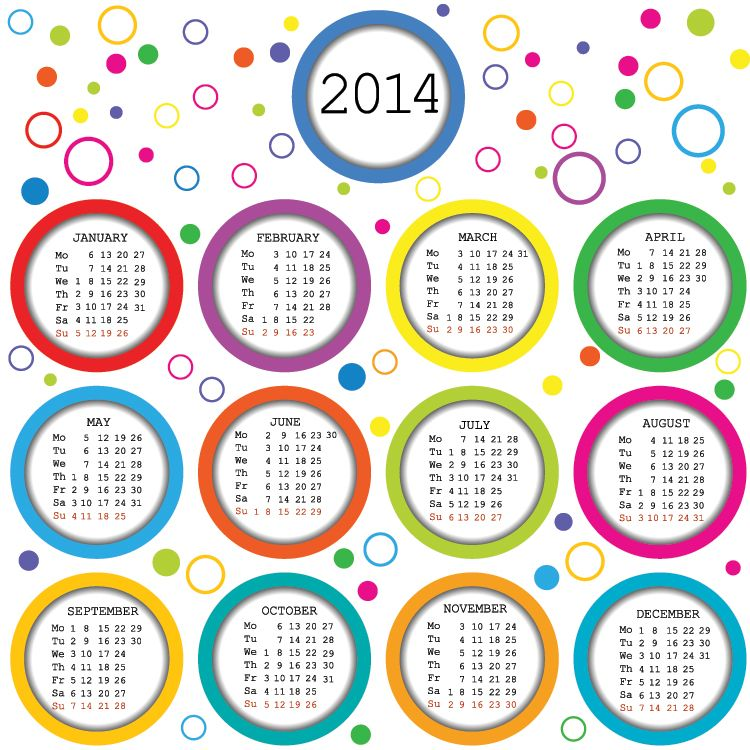 2014 Printable Calendars For The Front Of The Kids Journals Bible
