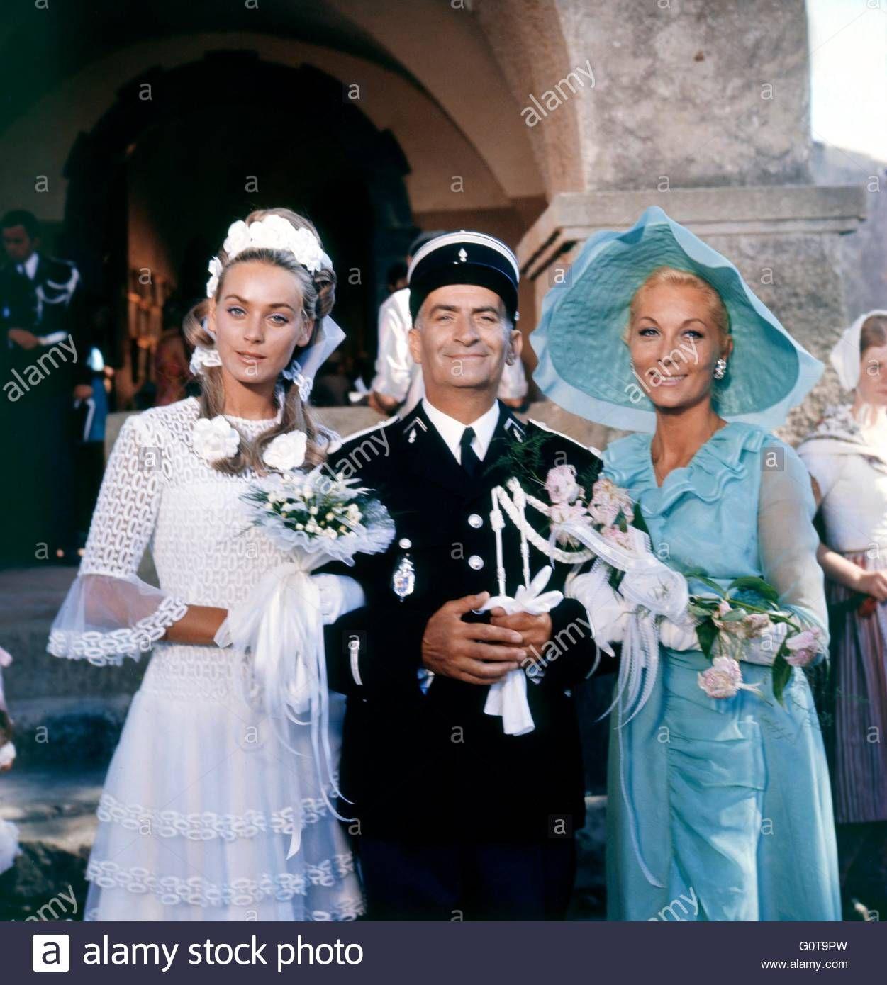 Geneviève Grad, Louis de Funès and Claude Gensac / The Troops get