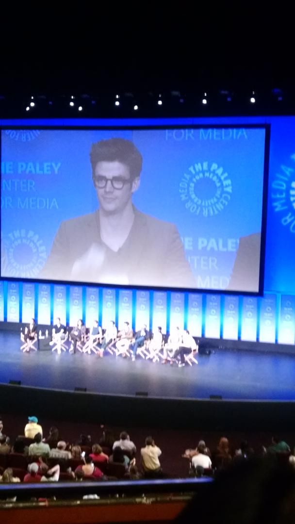"""Grant Gustin right after the first questioner said """"I love #Arrow so much."""""""