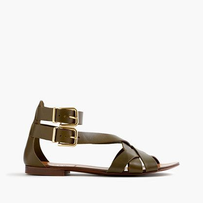 J.Crew Olive Multistrap Sandals {Summer, Summer Shoes, Summer Sandals, Shoe Trends, Current Shoe Trends, Summer Style, Summer Fashion, Summer Pieces, Summer Looks} www.lovekrystle.com