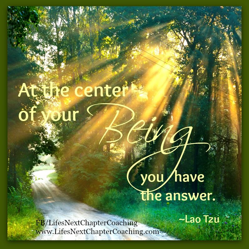 At the center of your being you have the answer. Find more ...