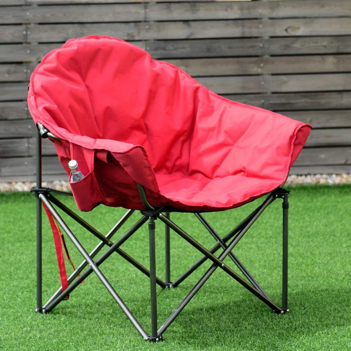 Giantex Folding Moon Saucer Chair Portable Camping Chair