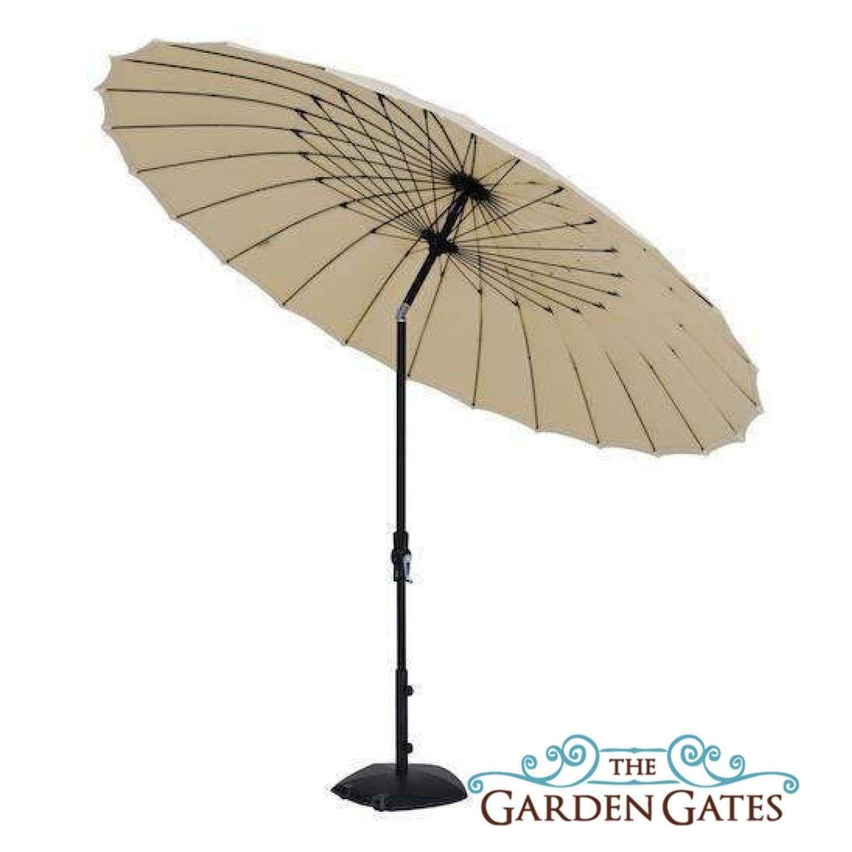 Treasure Garden 10ft Shanghai Collar Tilt Umbrella Outdoor Patio