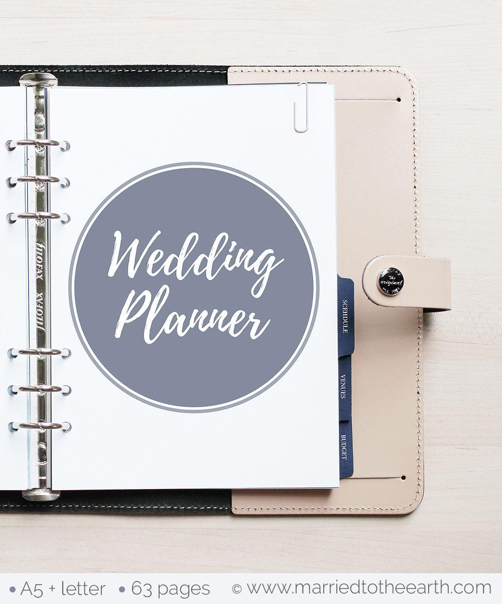Free Printable Wedding Planner A5 & Letter Diy wedding