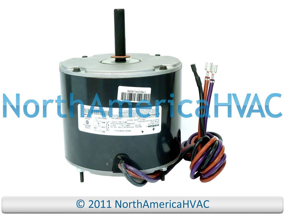 Details About Oem Emerson Trane Condenser Fan Motor 1 4 Hp 208