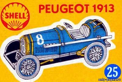 Бумажная модель автомобиля Peugeot 1913 г.
