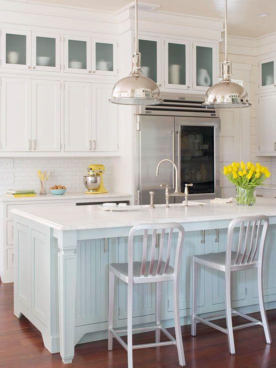 an ocean inspired kitchen makeover beach house beach house rh pinterest com