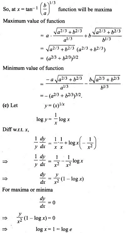 Rbse Solutions For Class 12 Maths Chapter 8 Application Of Derivatives Ex 8 5 Https Www Rbsesolutions Com Class 12 Ma Class 12 Maths Studying Math 12th Maths