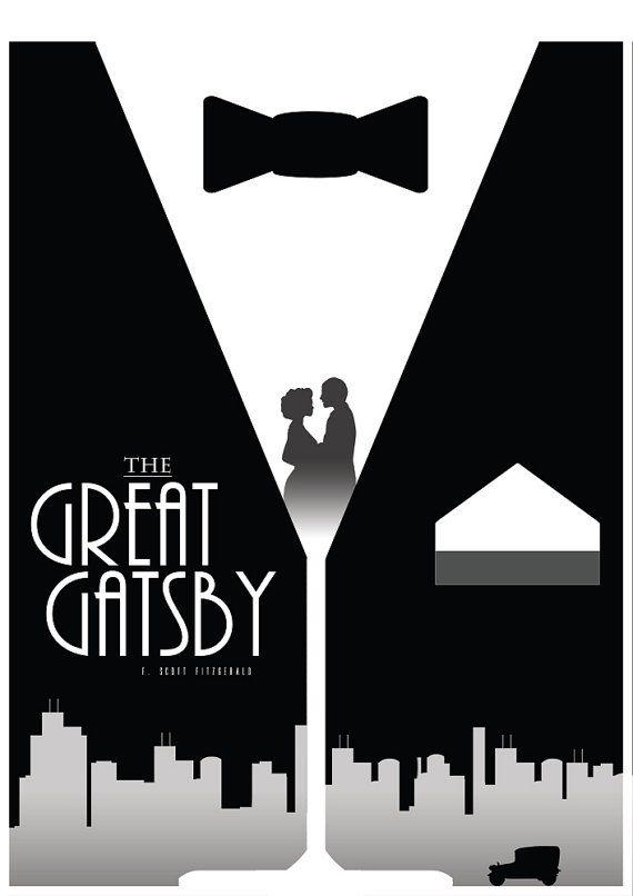 la grande affiche du film gatsby articles m nagers d coration murale litt rature imprimer. Black Bedroom Furniture Sets. Home Design Ideas