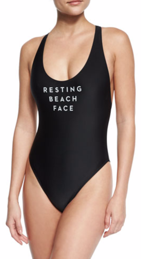 Resting Beach Face One Piece