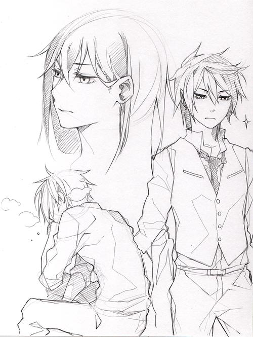 乁( ͡° ͜ʖ ͡° )ㄏ — gasp pencil sketches