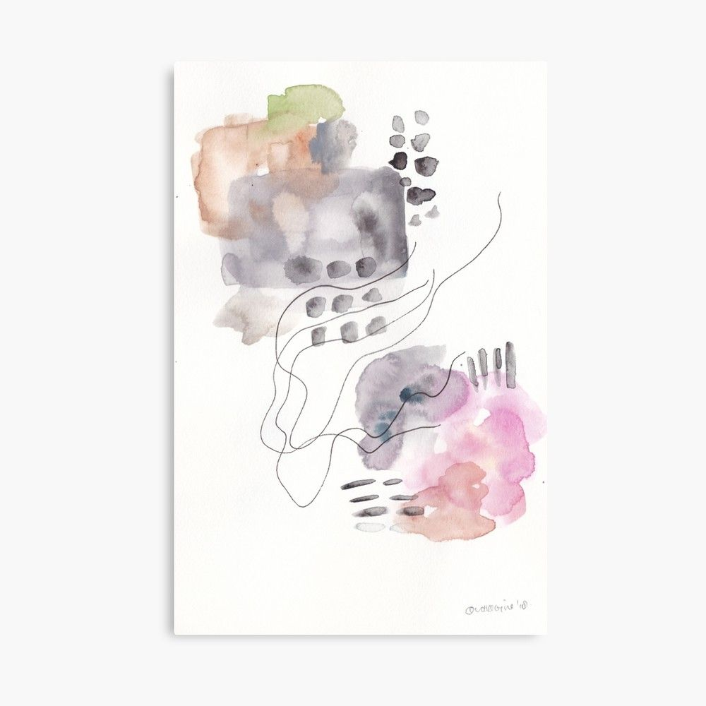 Kmart Canvas Printing 180805 Subtle Confidence 6 Watercolour Abstract Art Prints