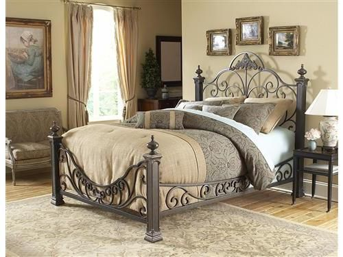 wrought iron beds pretty - Cast Iron Bed Frame