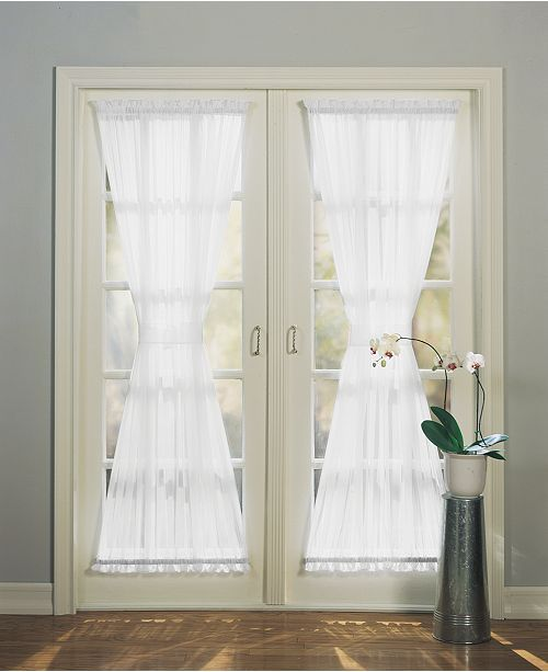 No918 No 918 1 Panel Emily Extra Wide Sheer Voile Patio Curtain