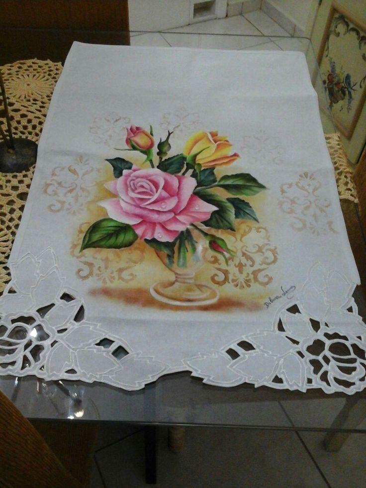 Resultado de imagen para pintar manteles en tela for Manteles de tela