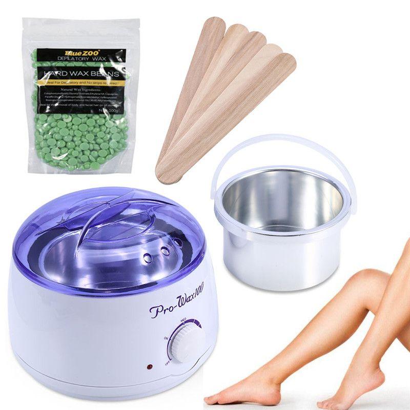 طريقة استخدام جهاز الشمع لإزالة الشعر Hard Wax Beans Waxing Kit Wax Hair Removal