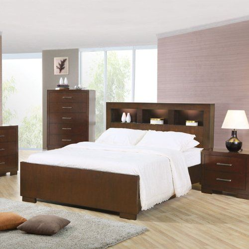 California King Size Bed with Shelf H...   Bedroom Armoires ...