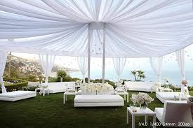 White themed outdoor lounge