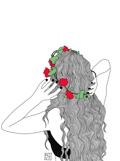 Imagen De Girl Outline And Art Art Pinterest Dessin Dessin